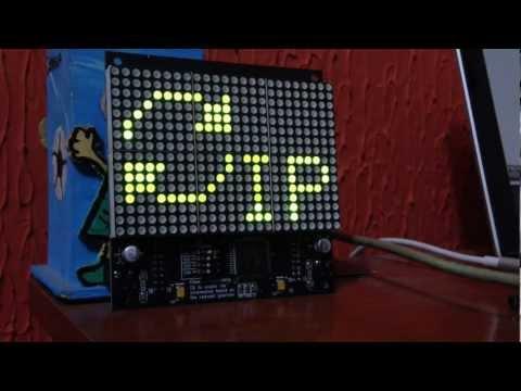 Arduino com Matrix de Led + informações via HTTP (Ethernet Shield)