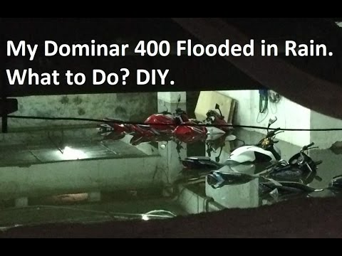 My Dominar 400 Flooded in Rain and Car also. What to Do? DIY.