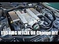 W211 E55 AMG Oil Change DIY l Mercedes M113K (4K)