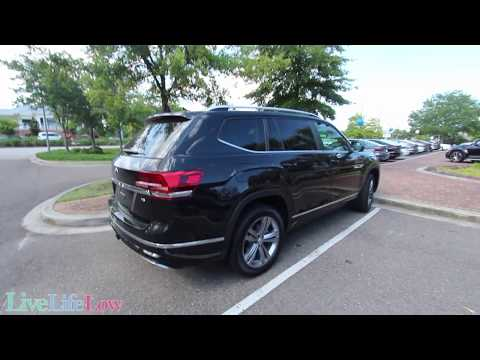 All New 2018 Volkswagen Atlas R Line | Exterior Color Black @ Low Country VW - 1st Look Review