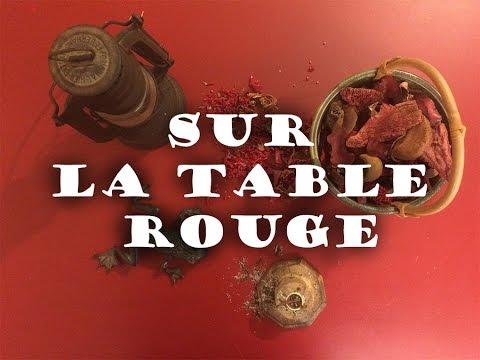 Sur la Table Rouge [VIDEO ASMR FRANCAIS]