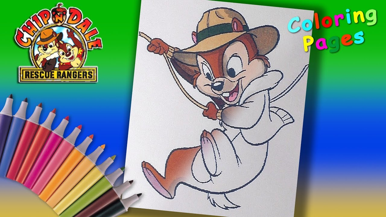 speed coloring chip n dale rescue rangers chip coloring pages for