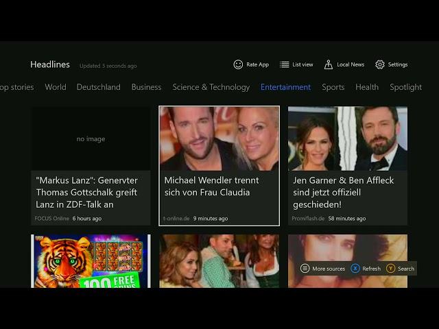 Xbox Apps: GNews - Google News Reader auf der Xbox One!