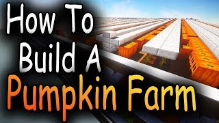 Hypixel Skyblock - How To Build An Efficient Pumpkin Farm