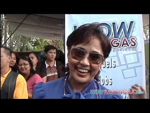 Gov. Vilma Santos Ambush Interview by WOWBatangas Team