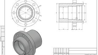 Моделирование стакана в AutoCad и вывод в PDF