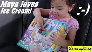 Unboxing Play-Doh Sundae Ice Cream Cart - Playtime with Maya