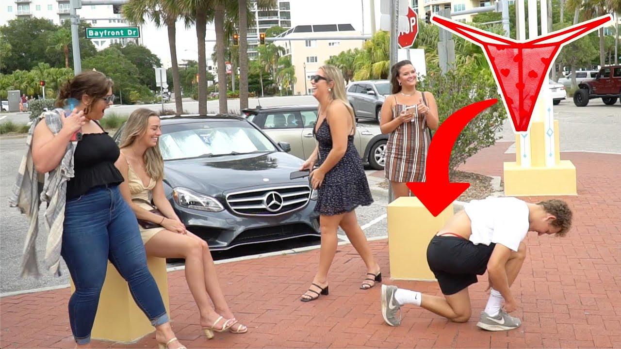 Man Wearing Thong in Public Prank!