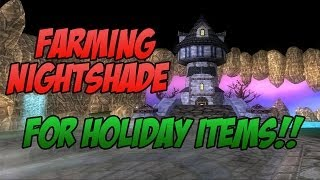 Wizard101: Farming Nightshade for Christmas STUFF! w/ Blaze & Blue