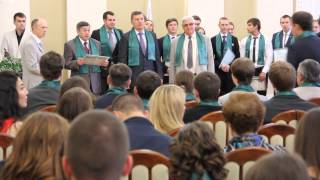 Выдача дипломов с отличием выпускникам Механического факультета ПГУПС