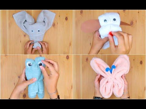 Piegare Asciugamani Forme : Idee originali per piegare un asciugamano youtube