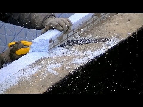 Building industry. Construction of a family house. Part 6 Full HD! Foundation insulation