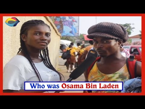 Who was Osama Bin Laden? Street quiz