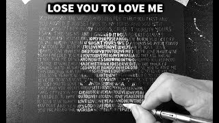 Drawing Selena Gomez with '' LOSE YOU TO LOVE ME '' song lyrics - DP Truong