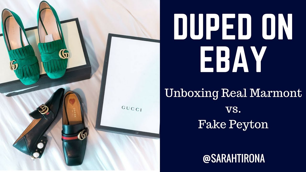bcf181995 HOW TO SPOT: FAKE GUCCI MARMONT AND PEYTON LOAFERS
