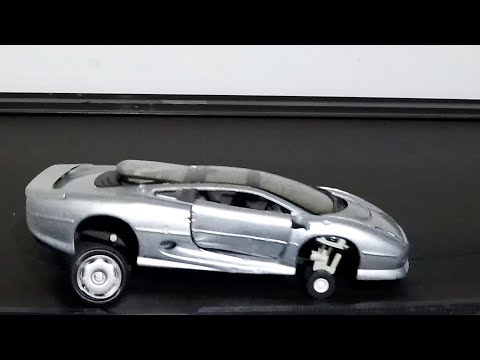 Jag XJ220 Model vs Slingshot || Model Car On Treadmill