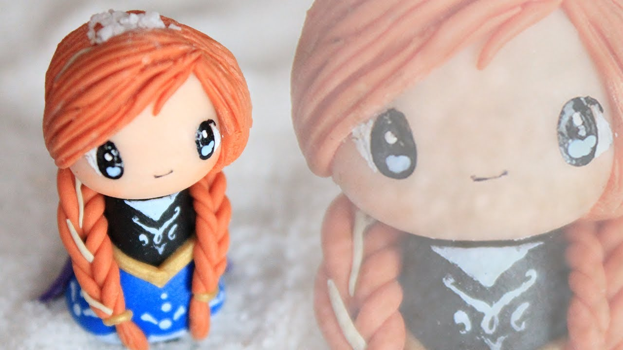 Anna chibi tutorial from frozen polymer clay how to youtube baditri Images