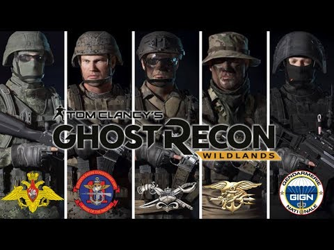 Ghost Recon Wildlands: Special Forces Uniforms: USMC 11th MEU, Russian Federation, US Navy, GIGN