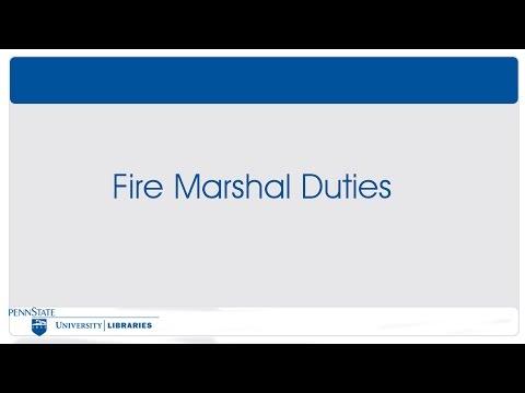 Module 6 - Getting Help - Fire Marshal Duties
