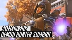 Overwatch | Demon Hunter Sombra Skin Spotlight | All Cosmetics & Gameplay [BlizzCon 2018]