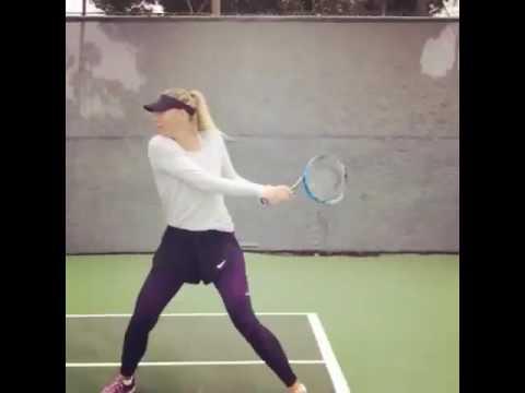 Maria Sharapova's training