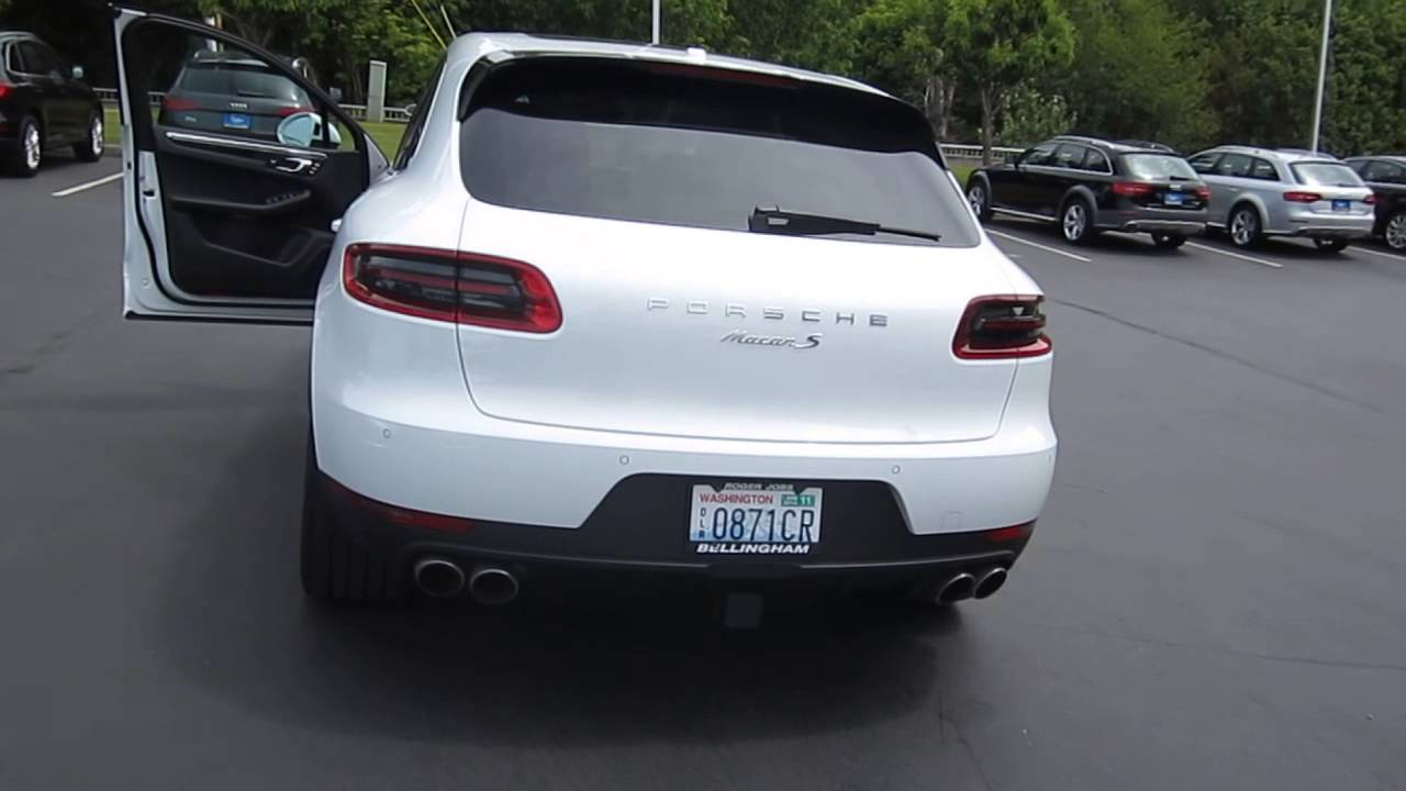 2015 Porsche Macan White Stock 109956 Walk Around