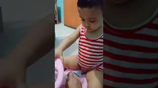 Cute baby talking |