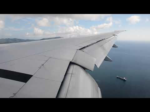 Approach and landing - Martinique [Air France B777-300]