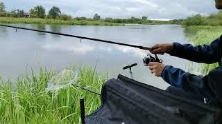 рыбалка на фидер на течение в деревне Быньги на реке Нейва