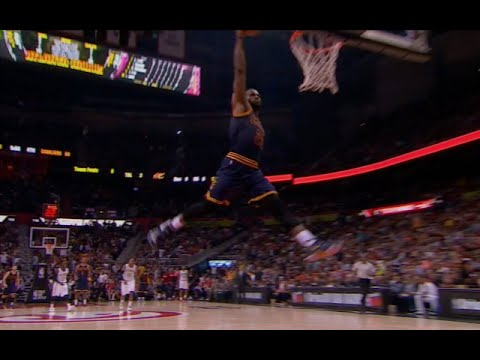 LeBron James Emulates Jumpman Logo On Dunk Vs Hawks