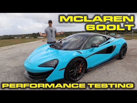 $320k McLaren 600LT Performance Review and VBOX Testing - 1/4 Mile, 0-60, 60-130 and more