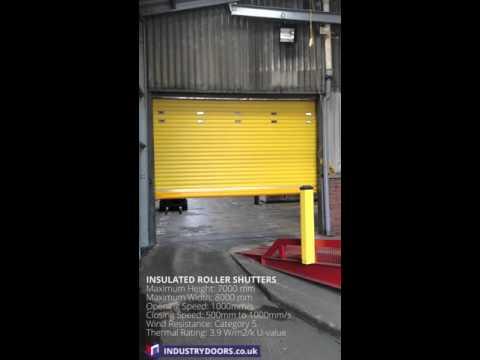 Industrial Insulated roller shutter door operation
