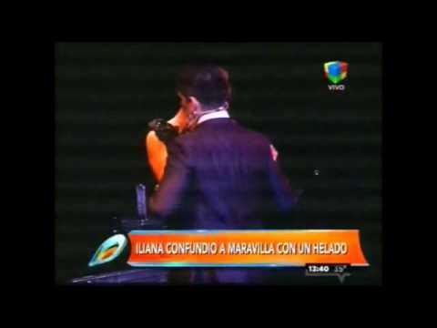 El video del mega beso de Iliana Calabró a Maravilla Martínez
