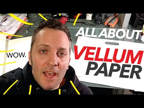 What's Vellum Paper? What Kind Should I Get?