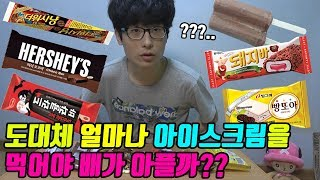 figcaption [검증] 도대체 얼마나 아이스크림을 먹어야 배가 아플까? 라는 실험 [닭갈비TV]