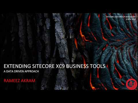 SUG Bangalore - Extending Sitecore Experience Commerce 9 Business Tools