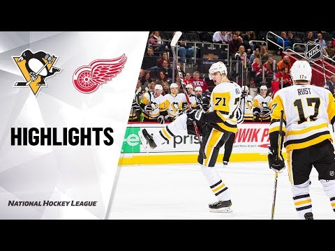 NHL Highlights   Penguins @ Red Wings 12/07/19