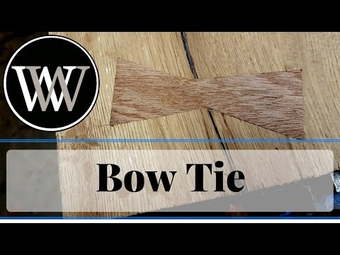 How to Inlay a Bow Tie or Butterfly in Wood To Stabilize a Crack or Cut A Dutchman