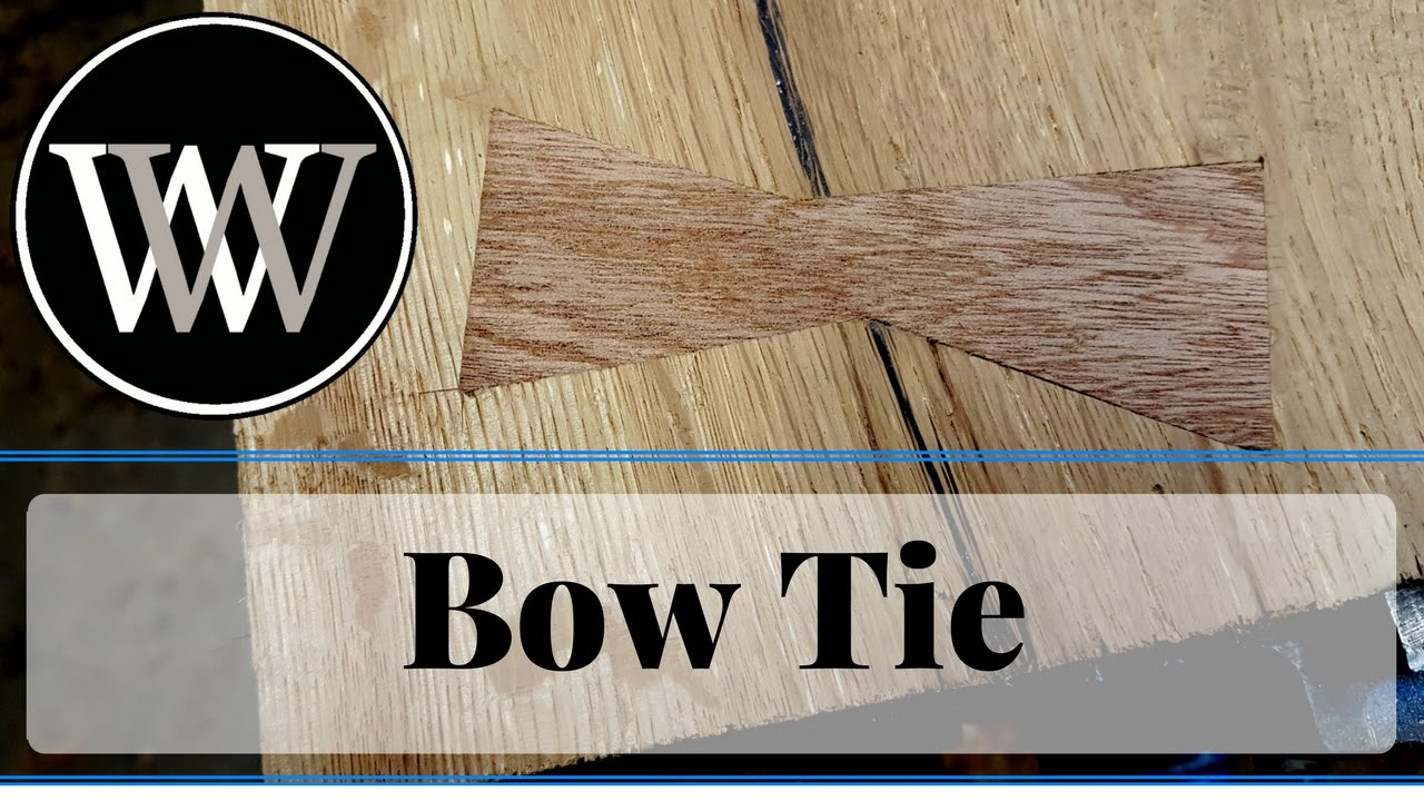How to Inlay a Bow Tie or Butterfly in Wood To Stabilize a Crack or ...