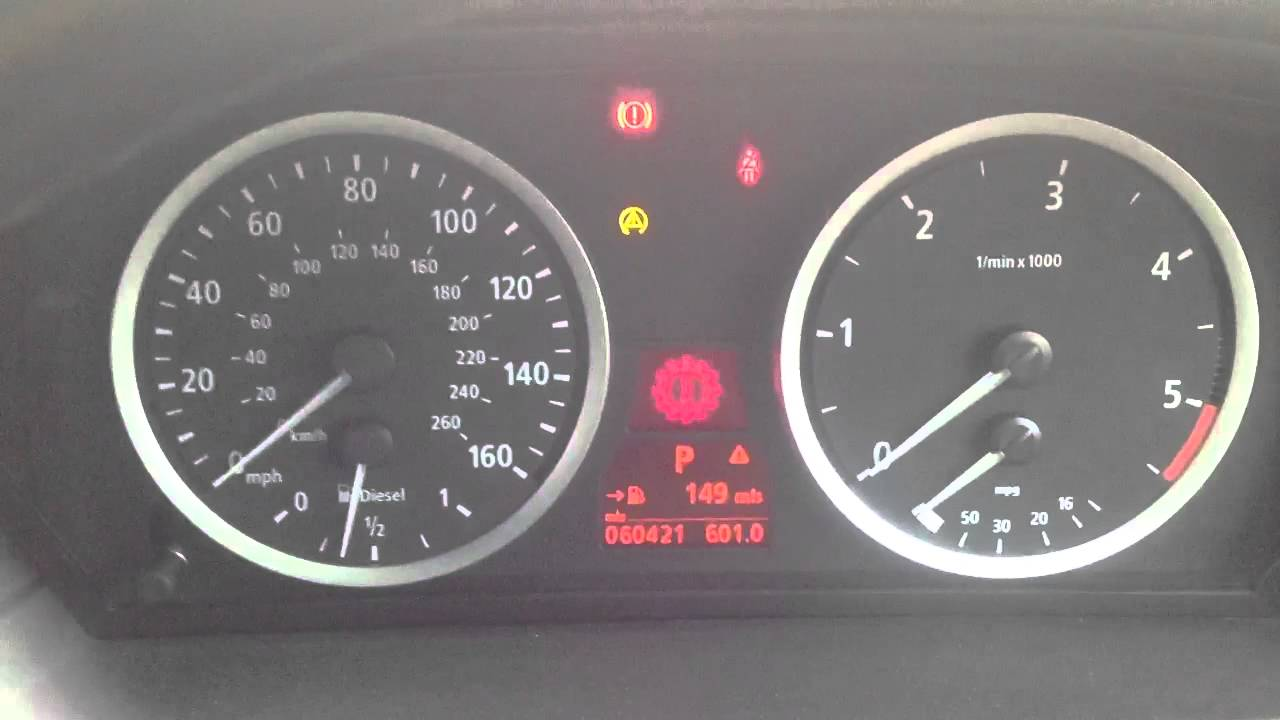 Bmw E90 Warning Light >> BMW 535d 2005: won't start. Transmission Fault - YouTube