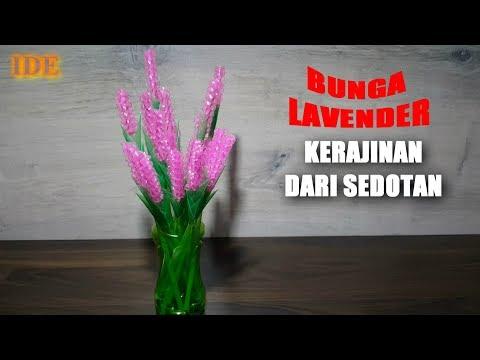 Cara Membuat Bunga Lavender dari Sedotan Plastik | Kerajinan Tangan dari Sedotan