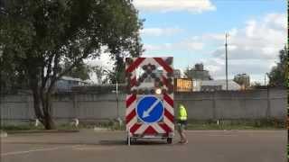 видео Машина прикрытия для дорожных работ