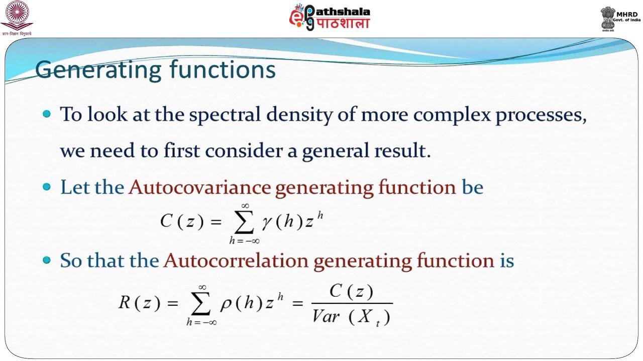 Spectral Density Function