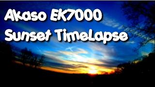 Akaso Ek7000 4K Action Camera Sunset Time Lapse!  2.7K 4k video!!