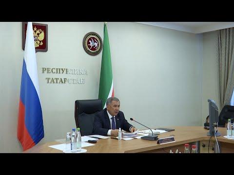 Минниханов доложил Путину о ситуации с COVID-19 в Татарстане