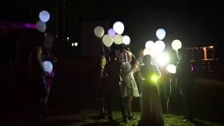 Запуск 20 светящихся шаров на свадьбе Наташи и Сережи (3 сентября,