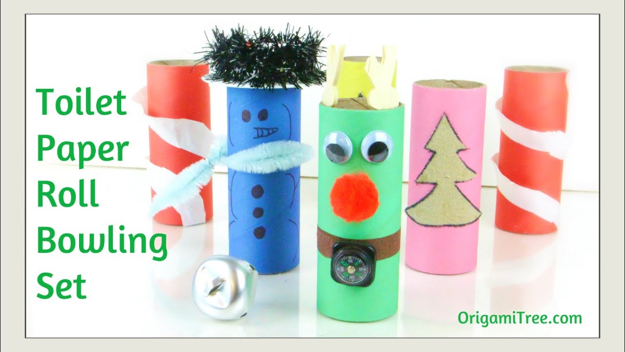Christmas crafts toilet paper roll craft how to make a for Toilet paper roll challenge