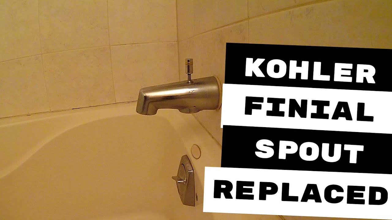 kohler faucets finial series tub spout replaced
