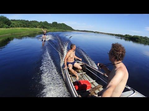 Водные лыжи по-деревенски