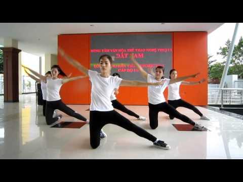 Lớp hướng dẫn viên aerobic 1/3 năm 2012 - trung tâm Đất Nam - nhóm 1